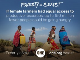 New ONE report: Poverty is Sexist